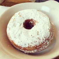 Vegan Powdered Sugar Donut